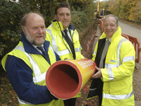 GLEN WATER AND FIRMUS ENERGY CO-ORDINATE PIPELAYING